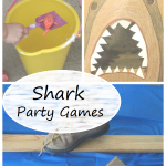shark party games: perfect for Shark Week or a shark birthday party