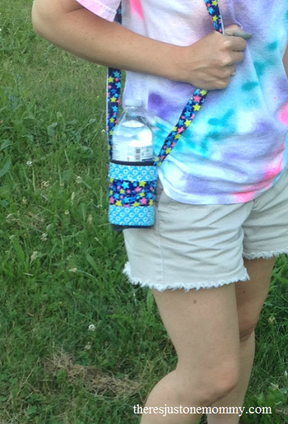 DIY duct tape water bottle holder