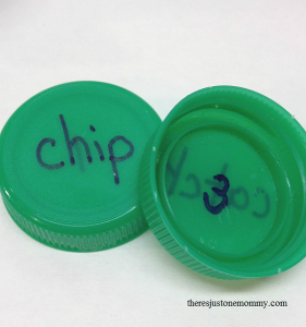 bottle cap game for sight words