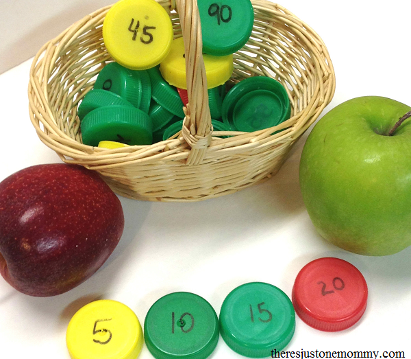 apple themed learning activity for skip counting