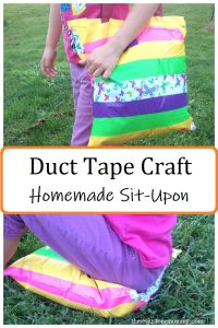 how to make duct tape sit upon