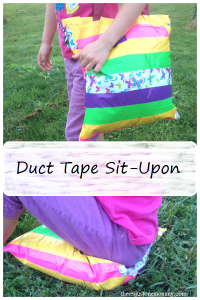 top kids craft: Duct Tape Sit-Upon -- great camp craft for Girl Scouts or Boy Scouts