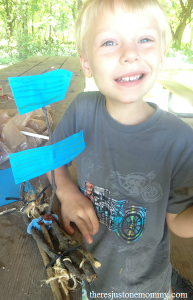 kids build a boat activity