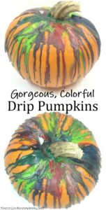 how to decorate pumpkins with melted crayons