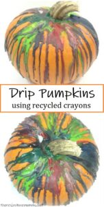 how to make crayon drip pumpkins