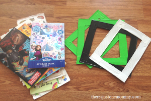 how to make a duct tape picture frame