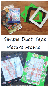 simple duct tape picture frame -- perfect for the kids' artwork!