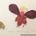 camping craft: leaf creatures fall leaf craft