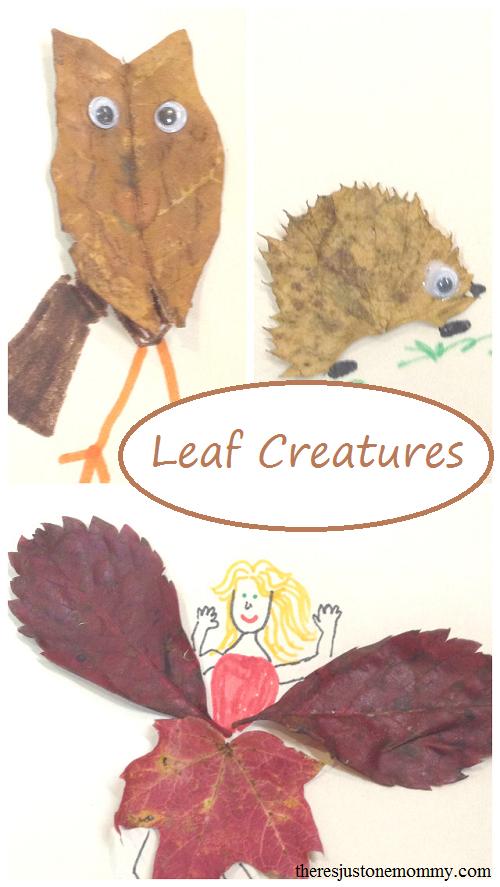Leaf Creatures: a fun fall leaf craft for kids