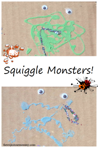 Squiggle Monster Craft