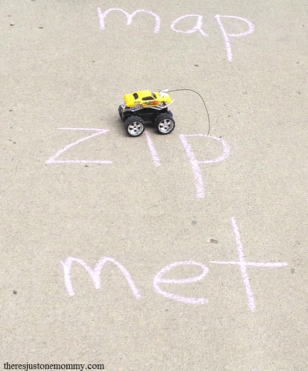 sight word practice at home -- truck sight word game