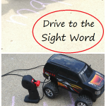 Drive to the Sight Word -- fun outdoor sight word game