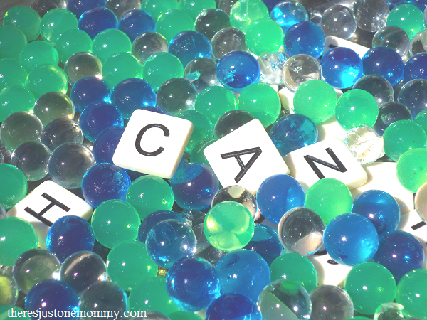 making spelling practice fun with water beads