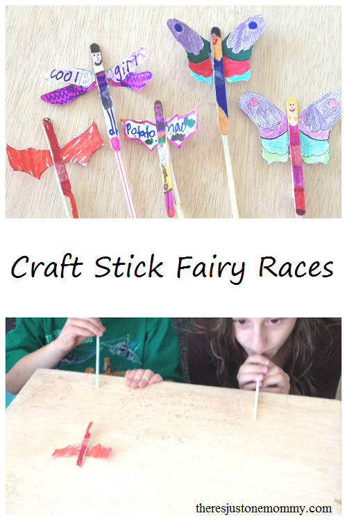 Fun Fairy Craft -- Make these fun craft stick fairies and them race them!
