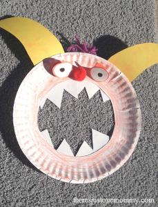 paper plate craft -- fun kids monster craft