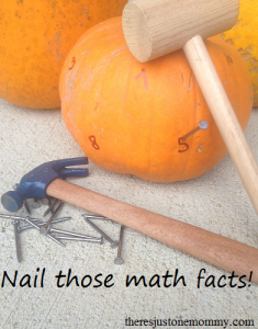 Fun way to practice math facts using pumpkins