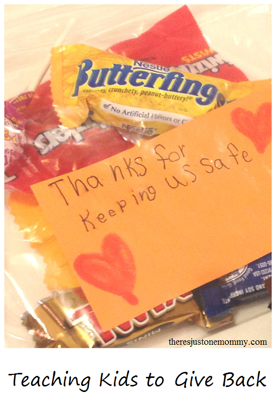 using leftover candy as a simple way to teach kids to give back to the community