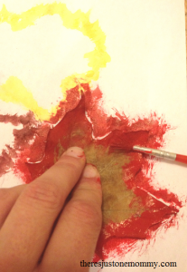 leaf resist painting craft