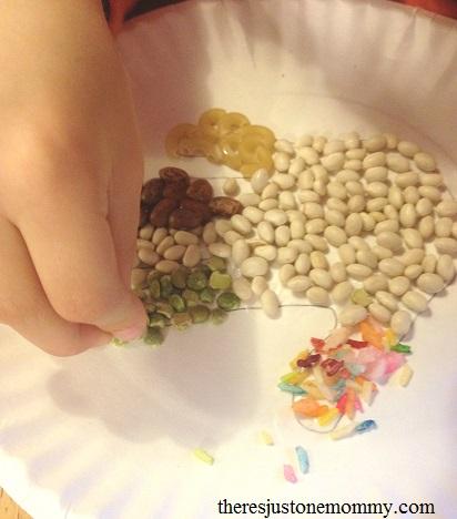 dried bean turkey craft