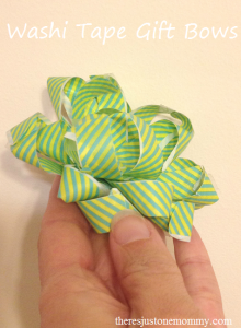 Make a gift bow with washi tape!