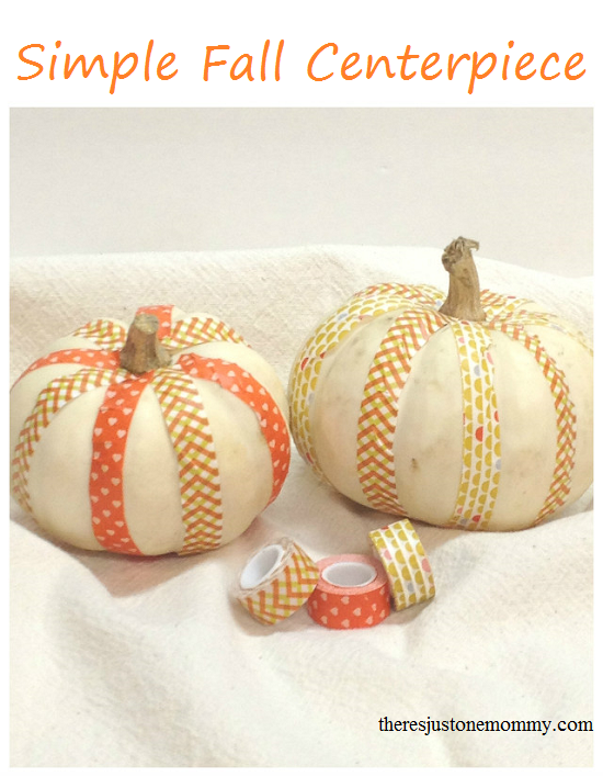 Super simple fall centerpiece, inspired by washi tape -- Thanksgiving centerpiece