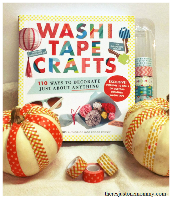 washi tape pumpkin craft and washi tape crafts book review
