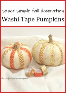 washi tape craft for fall