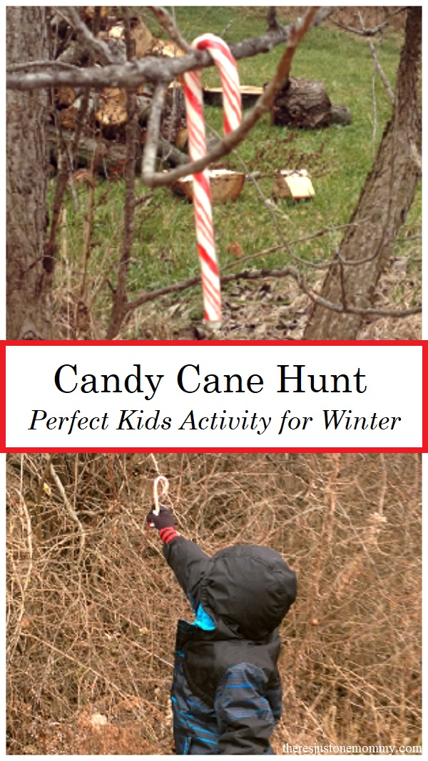 this candy cane scavenger hunt is a fun kids winter activity