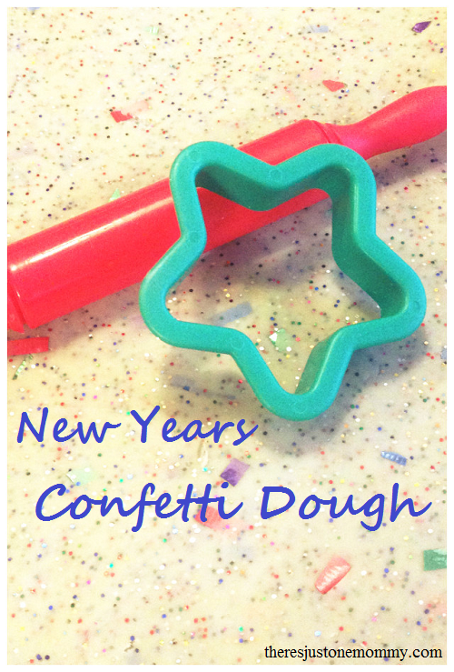 Confetti Dough -- fun way to celebrate New Year's with kids