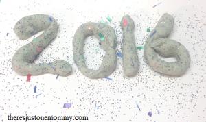 homemade playdough for New Years