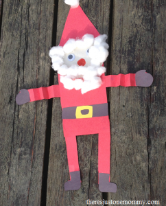 simple preschooler Santa craft