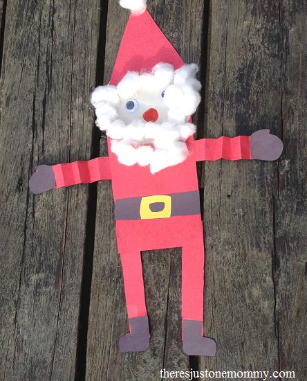 simple preschooler Santa craft