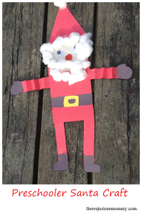preschooler Santa craft -- use simple shapes to make Santa!
