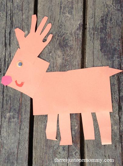 preschooler shape craft: fun reindeer craft