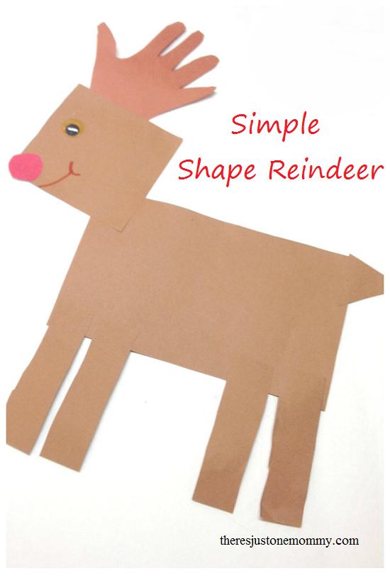 preschooler reindeer craft using simple shapes