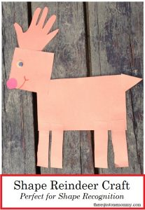 preschool reindeer craft using shapes