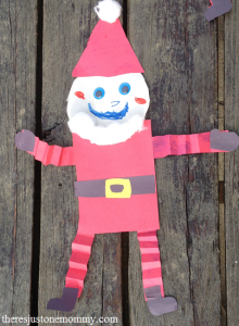preschooler craft: Shape Santa