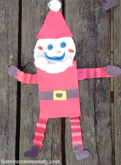 preschooler craft: Shape Santa