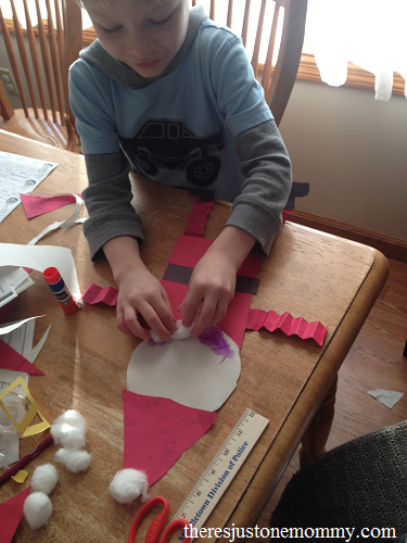 simple kids Santa Claus craft