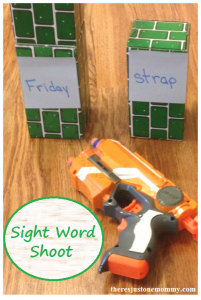 sight word game with Nerf guns