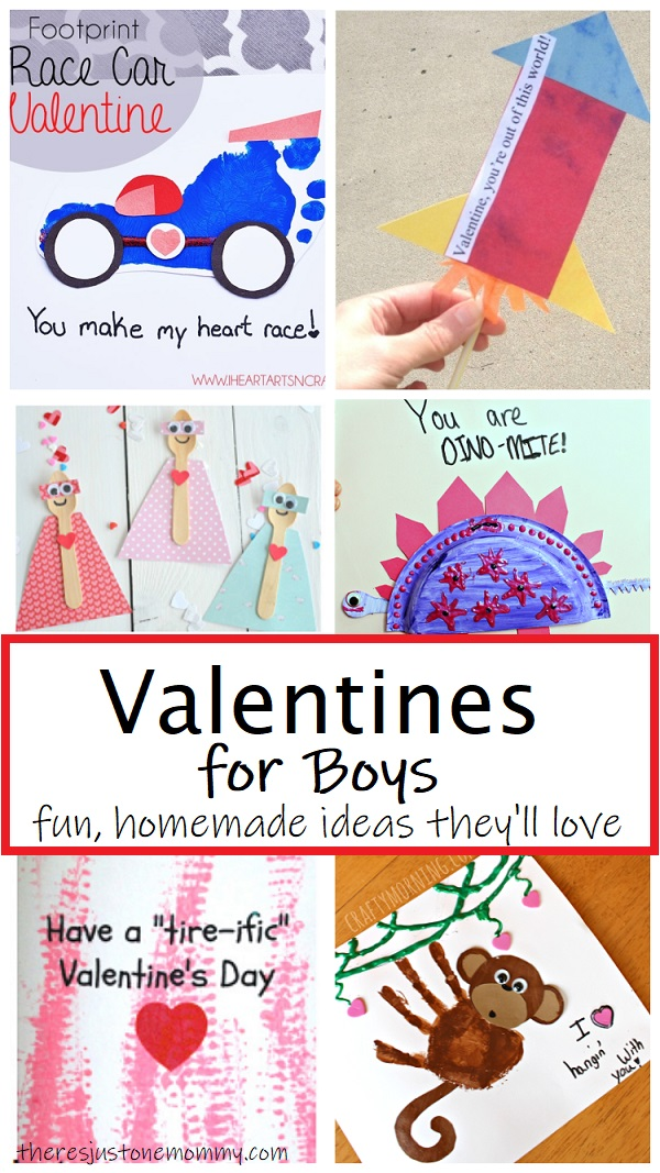 homemade Valentine's Day cards for boys