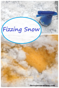 Kids Fizzing Snow Activity