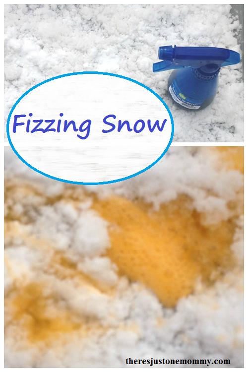 Fun winter kids activity: Fizzing Snow