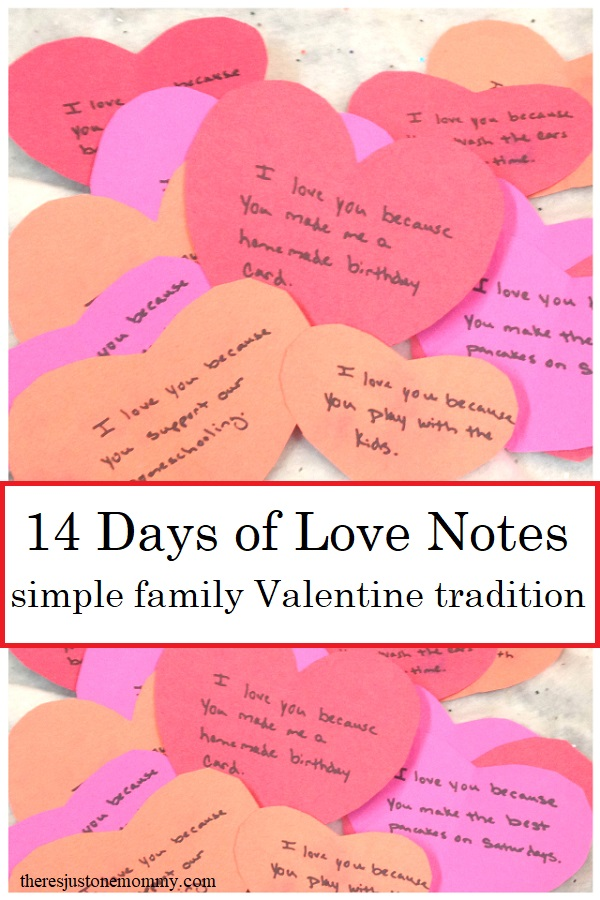 Valentine's Day tradition: leave 14 days of love notes for your kids and spouse