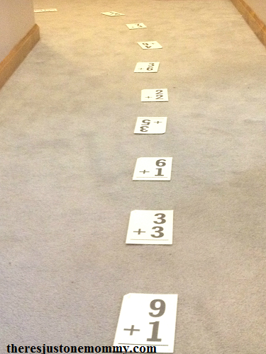 this simple math activity is a fun way to practice math facts for kinesthetic learners
