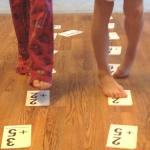 kinesthetic way to practice math facts