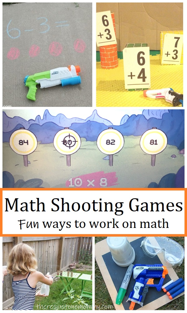 kids math games with shooting