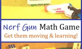 how to use Nerf guns to work on math facts