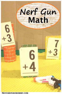 Nerf gun math activity