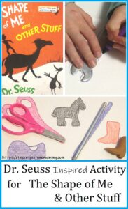 Dr Seuss craft for The Shape of Me & Other Stuff